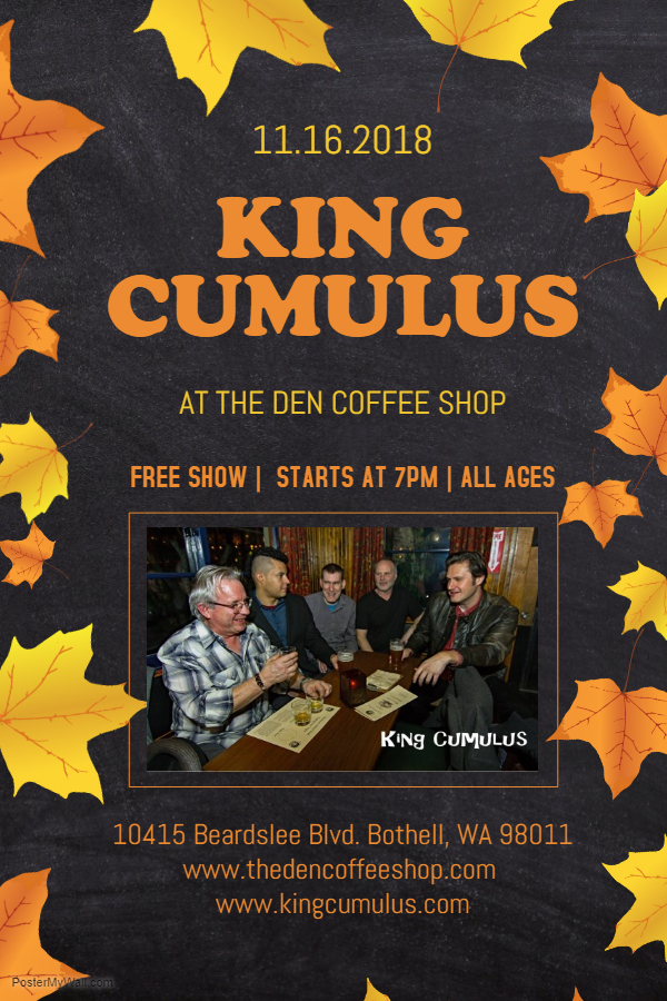 Nov. 16, 2018 - The Den Coffee Shop, Bothell, WA (semi-acoustic show)