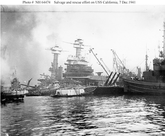 SALVAGE OF USS CALIFORNIA