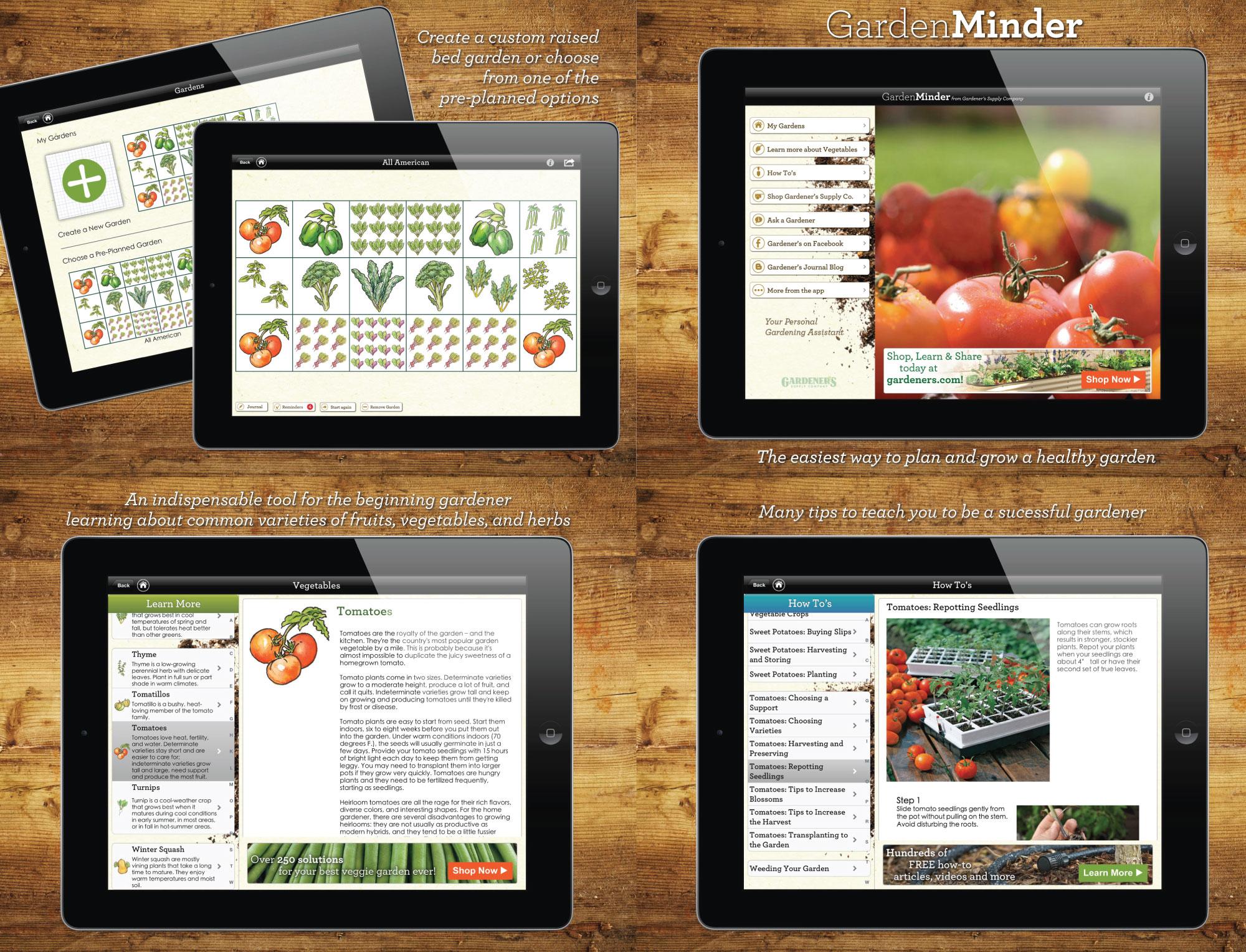 Screenshots for GardenMinder