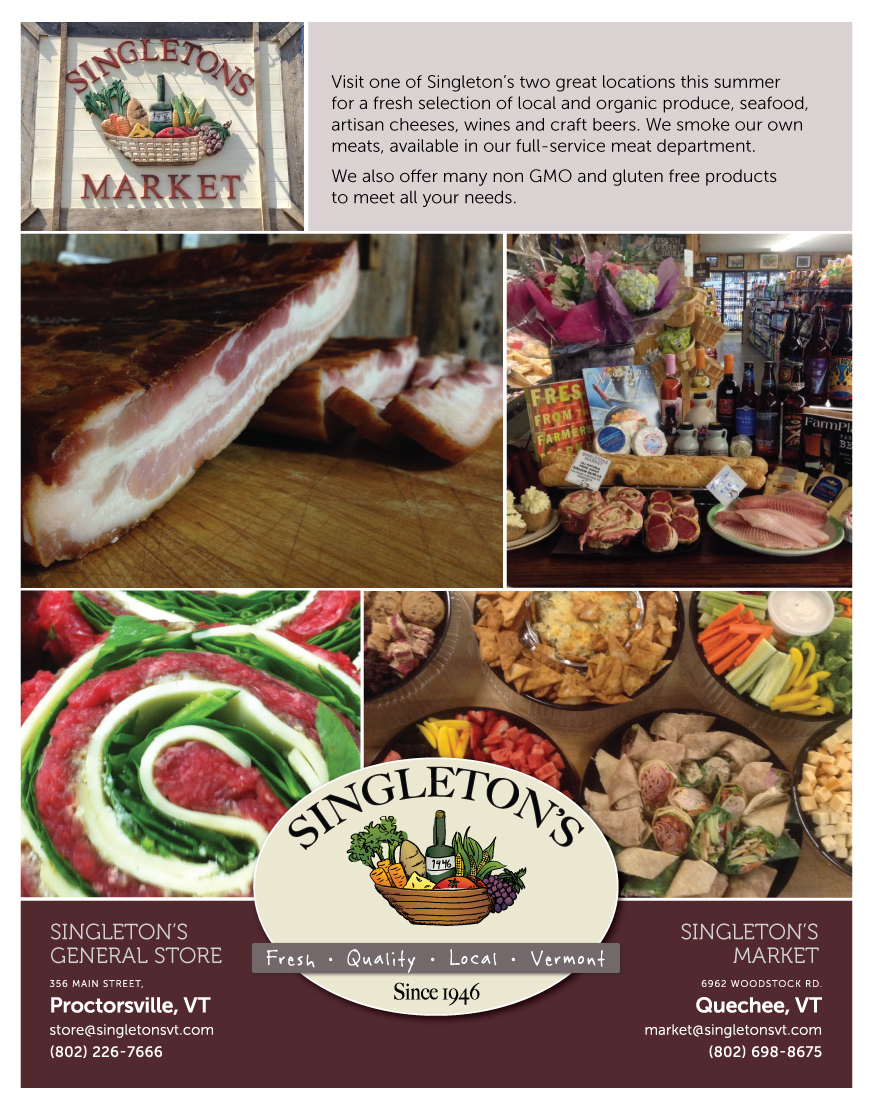 Print Ads for Singleton's Market