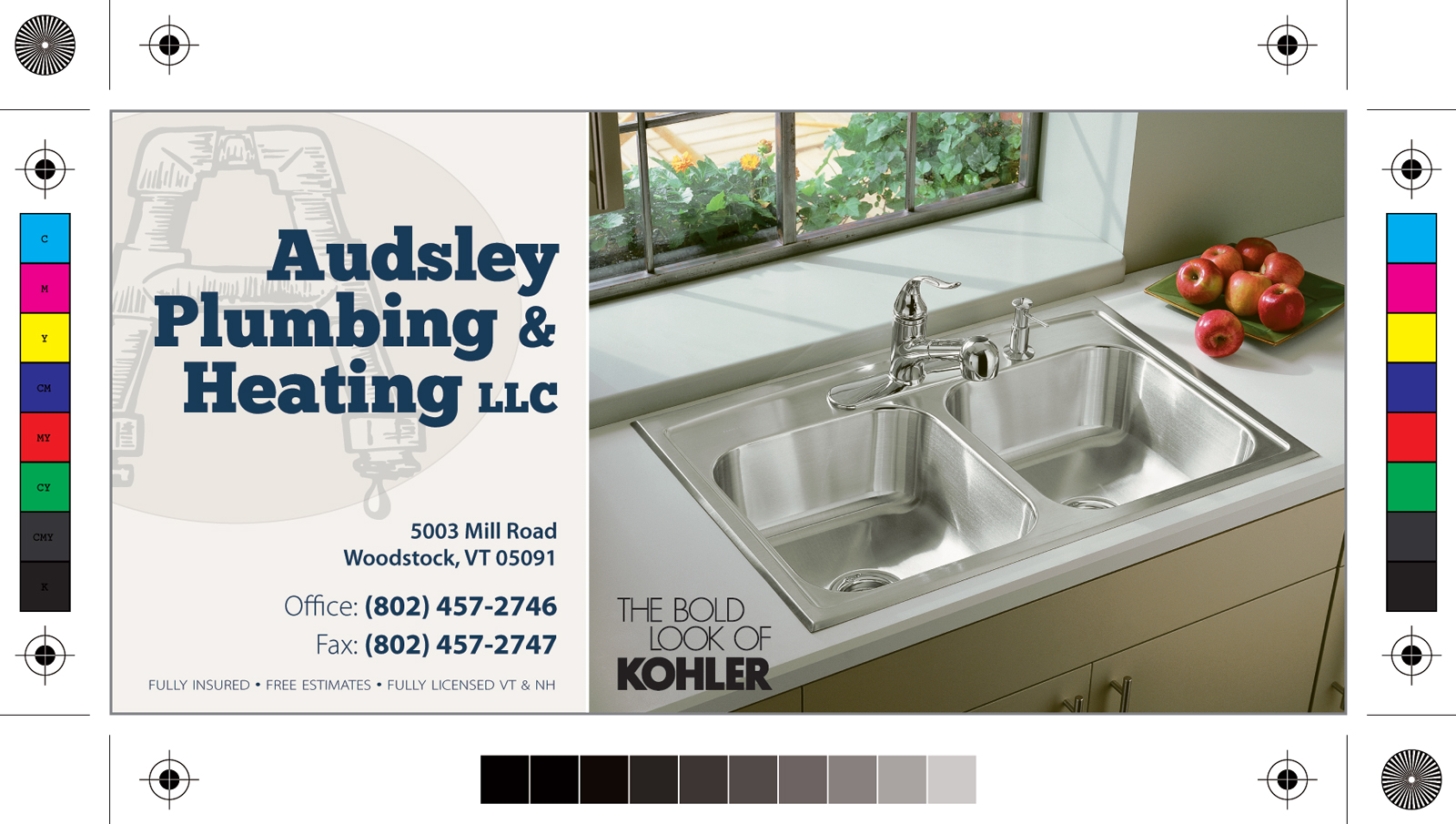 Print ad for Audsley Plumbing & Heating