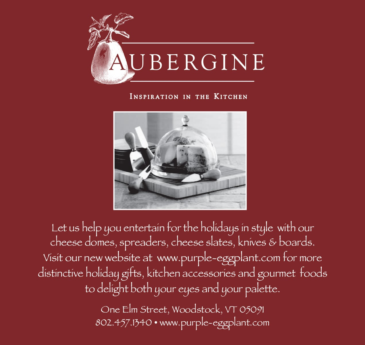 Print Ad for Aubergine Kitchen Store
