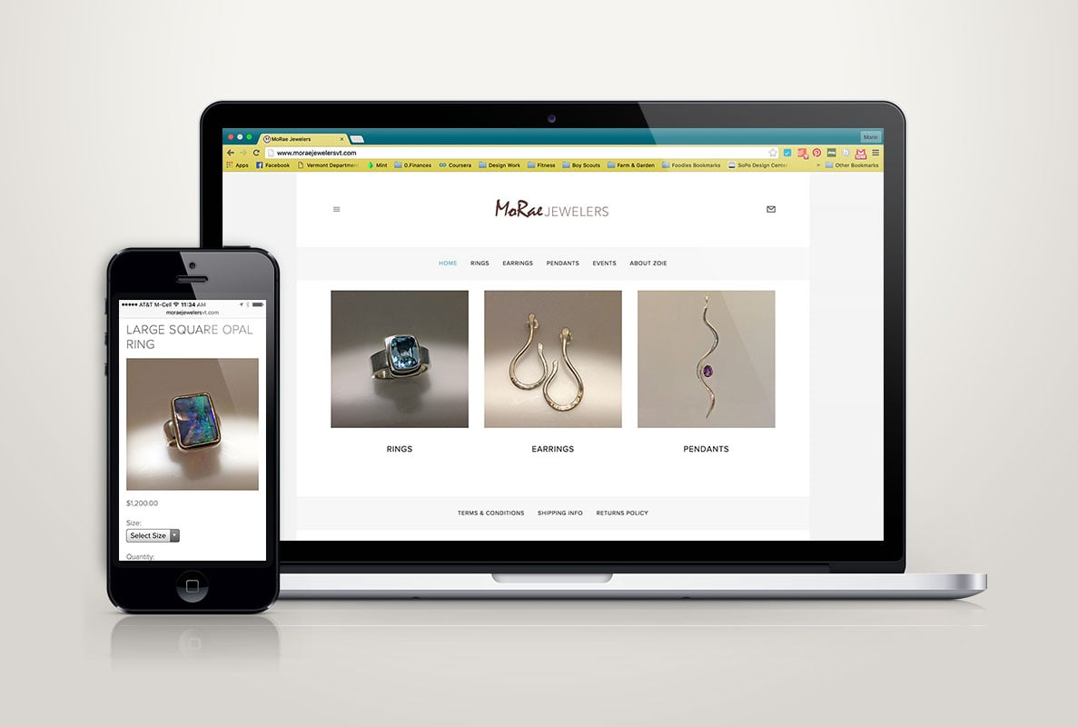 MoRae Jewelers Website Design