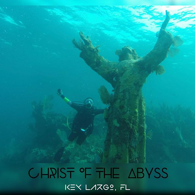 Appropriate Sunday share.  A dive to remember! 🌊 Christ of the Abyss is a 500 pound bronze statue underwater six miles from Key Largo, FL ���� . . . #ChristoftheAbyss #aroundtheworldinkatiedays #underwaterphotography #underwateradventures #diving #keylargo #divingadventures #katielinendoll #divespot #divediscovery #scubadivinggirls #scubadivingpic #christianlife #christianlifestyle #floridadiving #underwatershots #adventurelife #picoftheday #shotoftheday @instagram