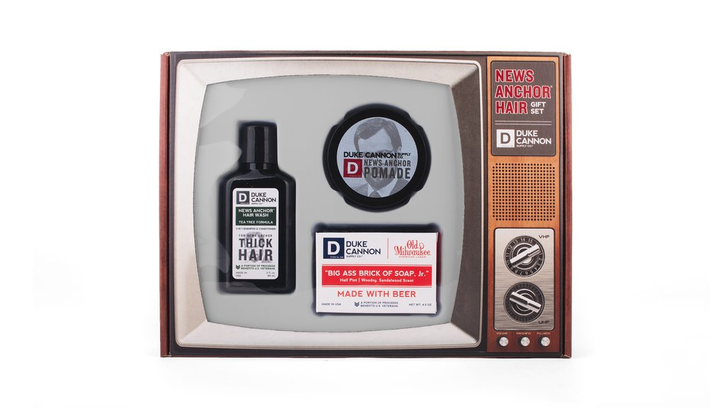 Duke Cannon News Anchor Hair Gift Set