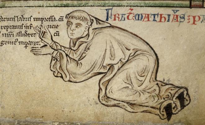 Image  : (source: Illustration:  Matthew Paris - drawn by Matthew Paris (British Library, Royal 14 CVII f.6  )