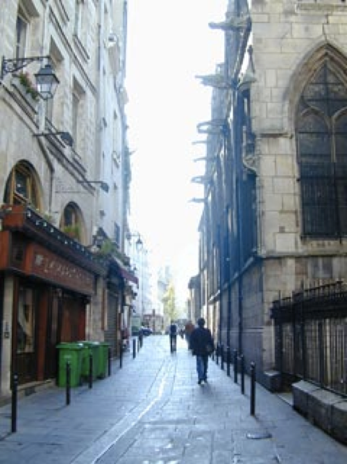 Rue Saint Séverin in the Latin Quarter where the events take place