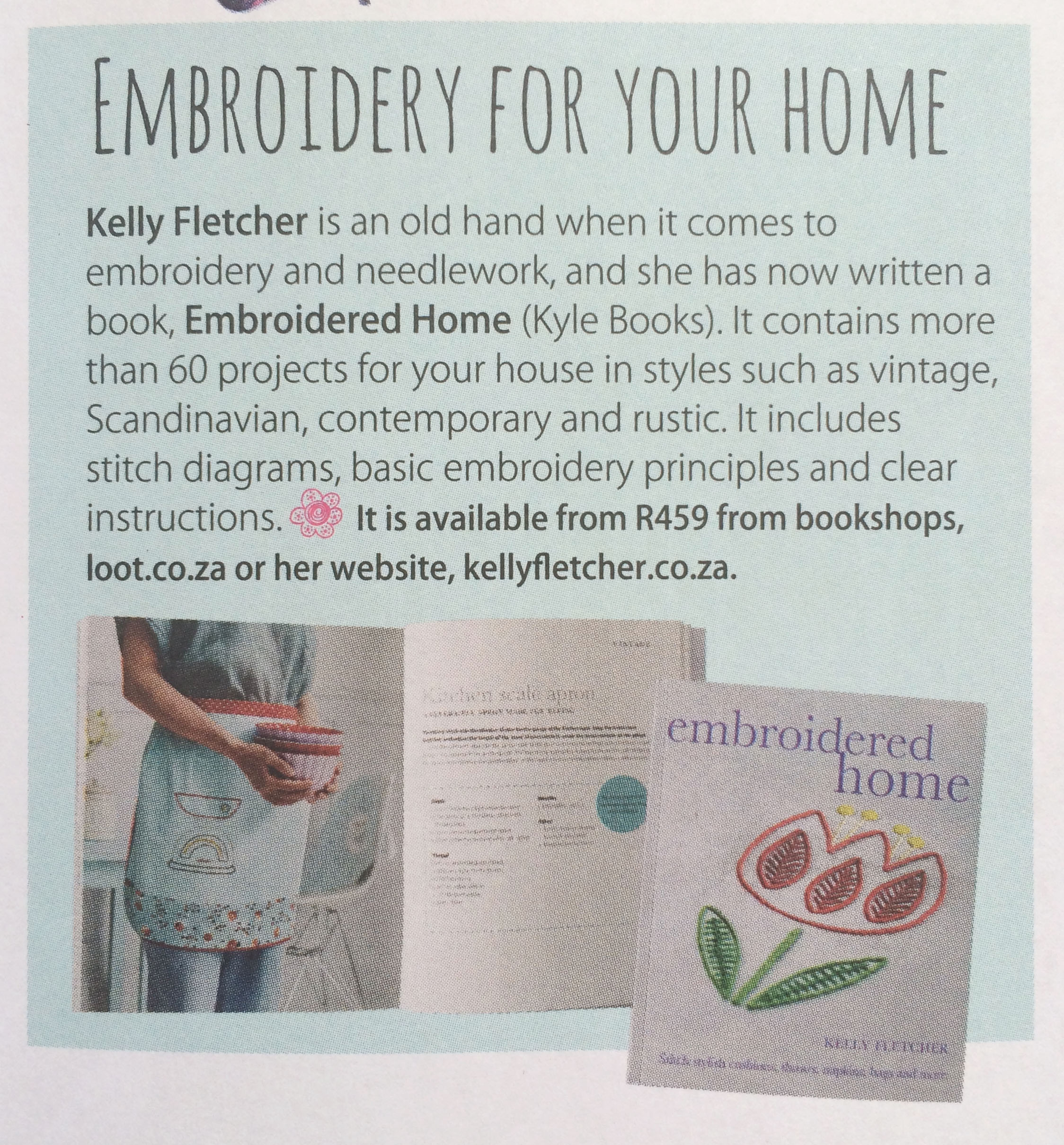 Products page, Embroidered Home -  Ideas , March 2016 (South Africa)