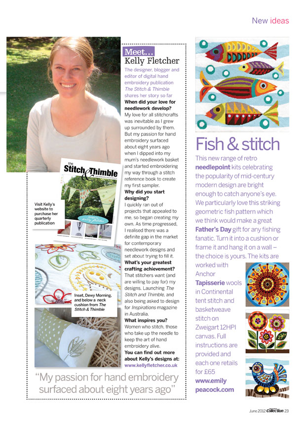Profile + interview -  Cross Stitch Collection , June 2012 (UK)