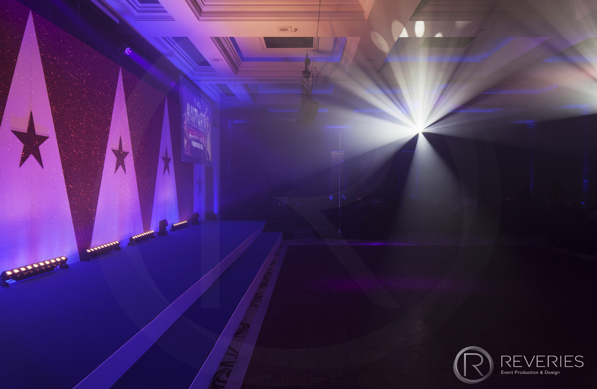 Halloween Horror Show - Bespoke triangle and star Circus backdrop