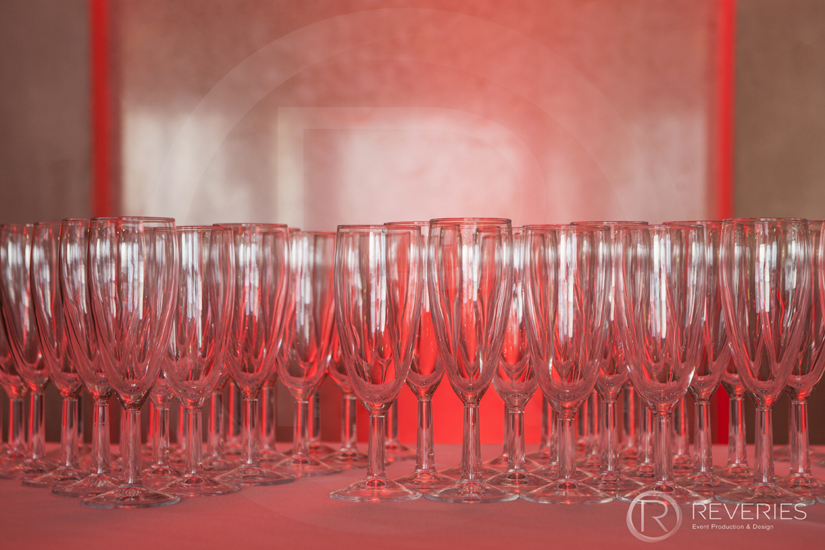 British Orthodontic Society Party - Champagne glasses detail