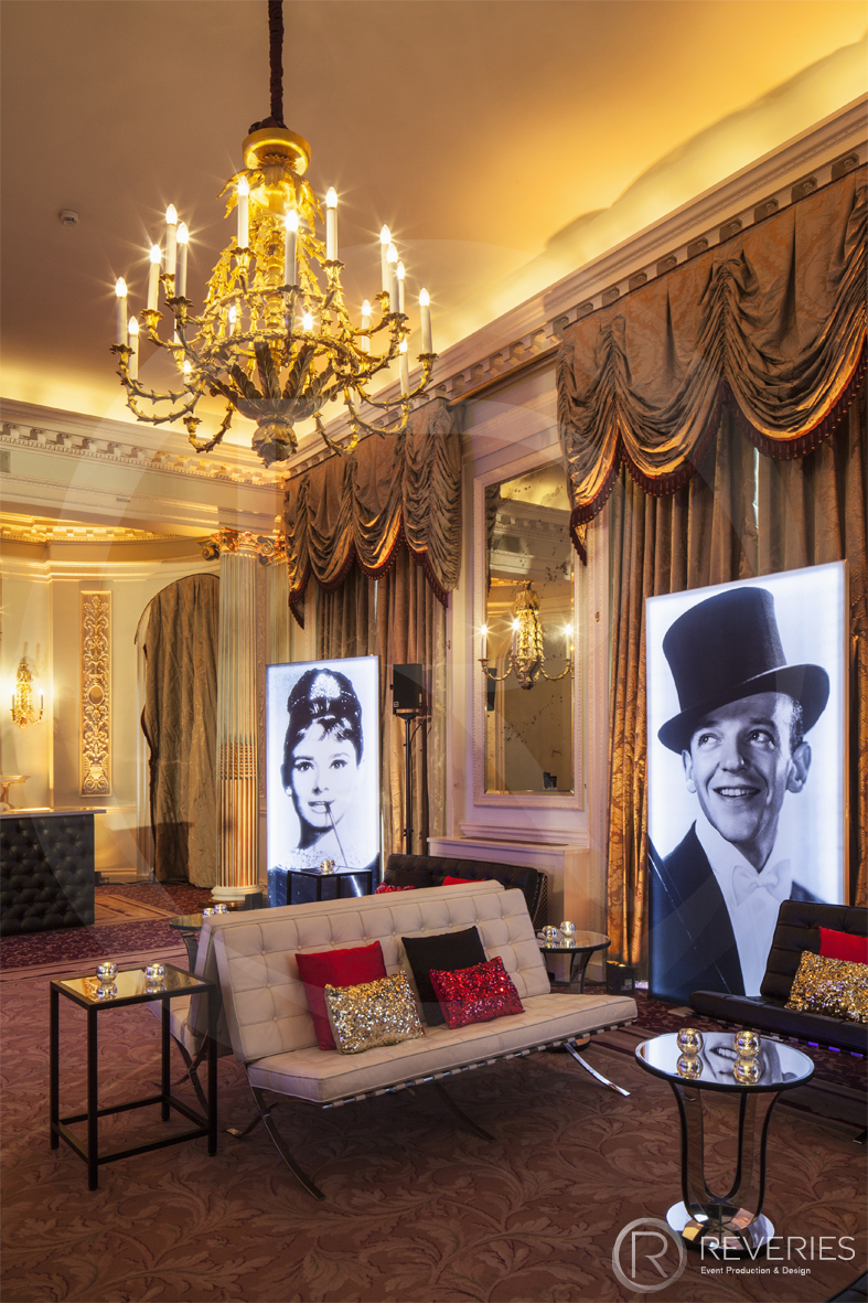 A Night At The Movies - Gold drapes, sparkly pillows and giant Hollywood portraits