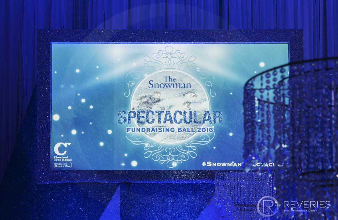 Snowman Spectacular 2016 - AV screen showing The Snowman