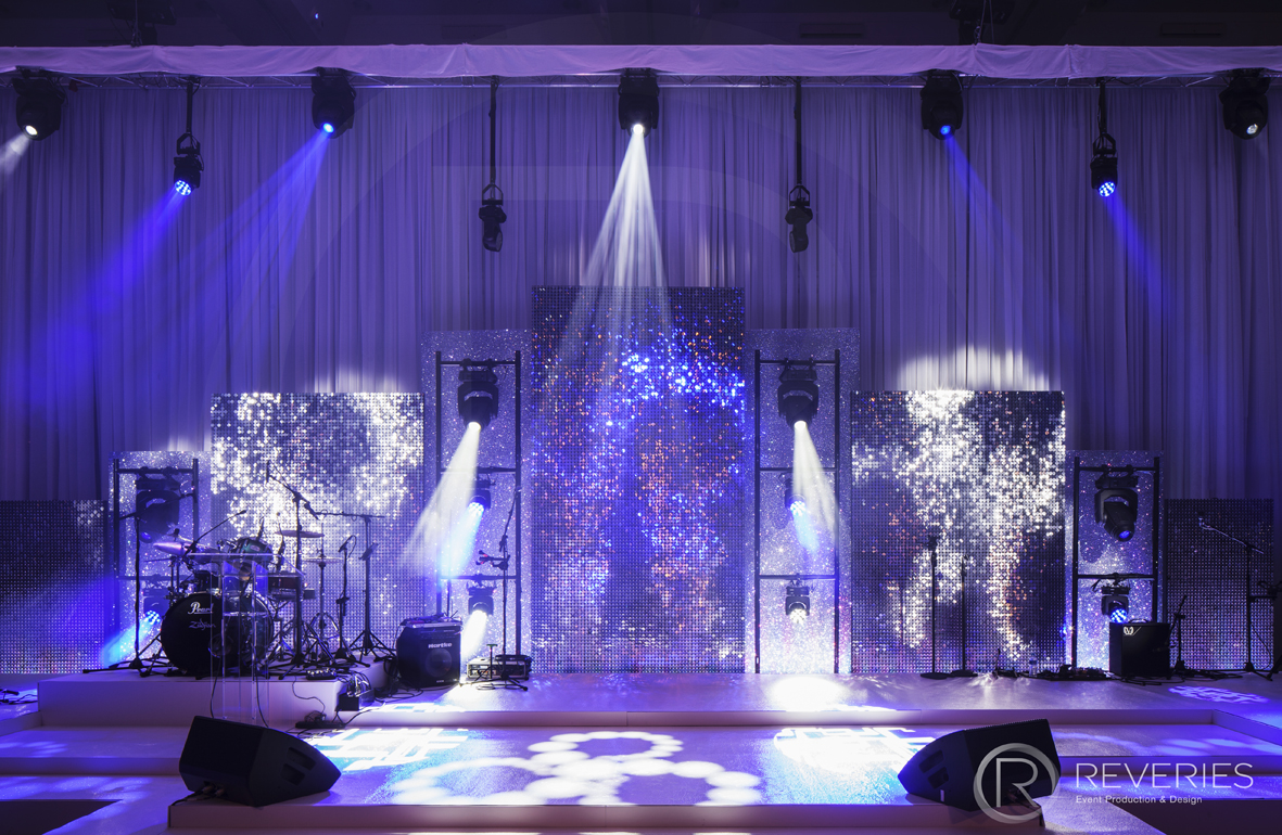 Snowman Spectacular 2016 - Bespoke stage design with full AV set up for live band