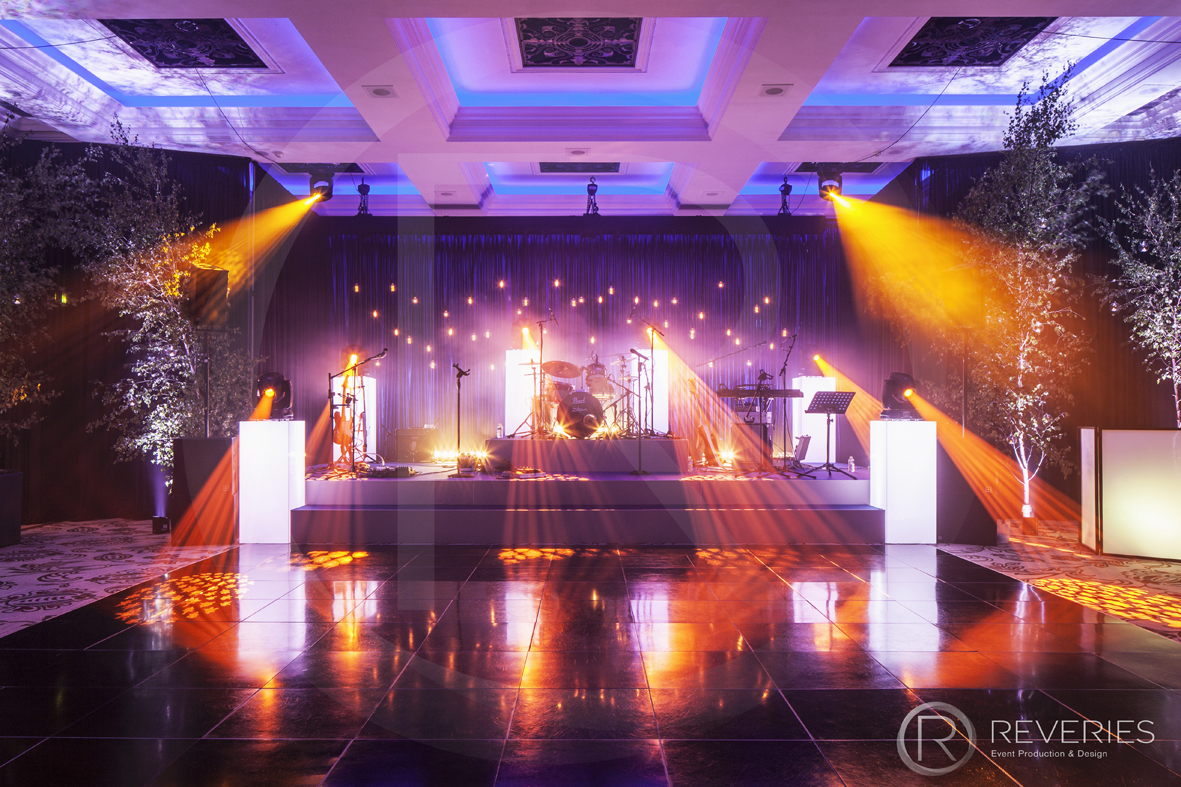 Enchanted Garden Party - Bespoke stage design and AV set up for live band