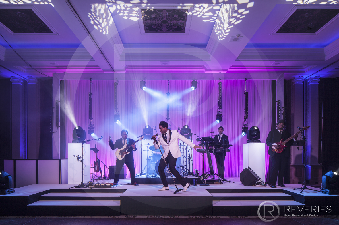 Centenary Ball - The live band take to the stage