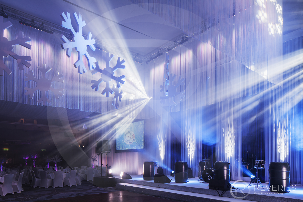 Snowman Spectacular - Stage design, live band set up and drapery and lighting design