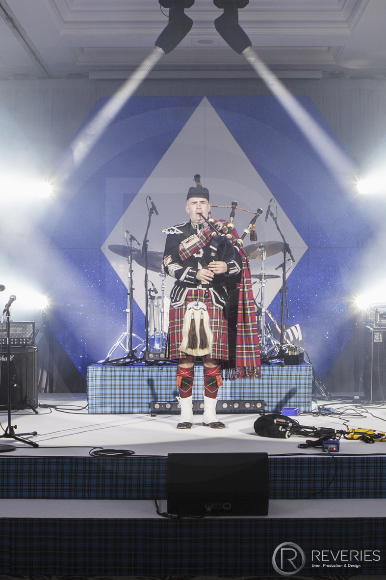 Burns Night Supper - Live bagpipe player