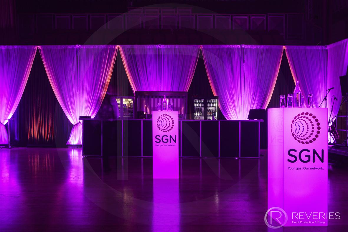 Venue Draping Corporate Parties drinks reception