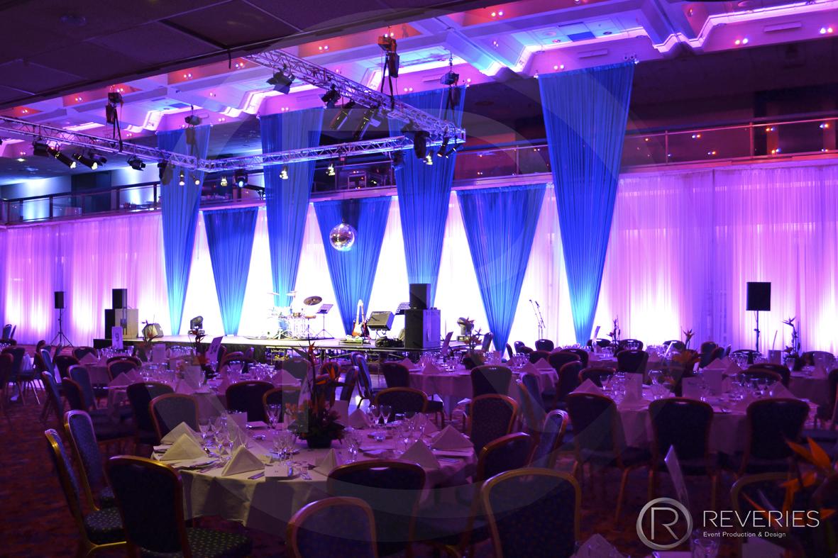 Corporate Events Venue Dressing Drape Hire Brighton London