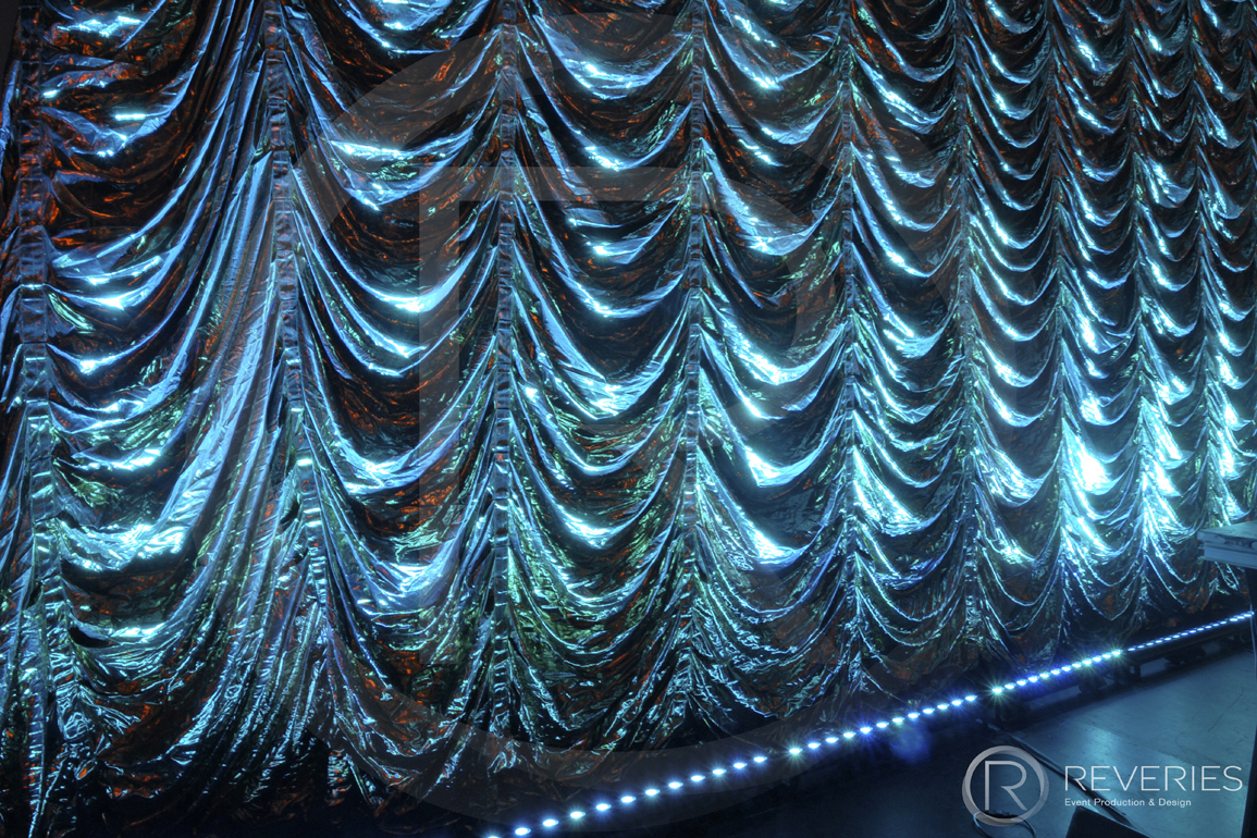 Reefer Curtain Theatre Festoon Drape Hire Brighton London