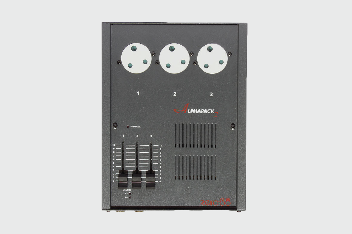 ZERO88 ALPHAPACK 2 3 CHANNEL DIMMER - £12.50 Daily / £24.00 Weekly