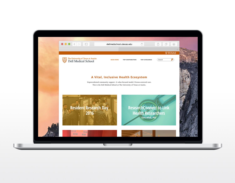 Dell Medical School Blog Redesign