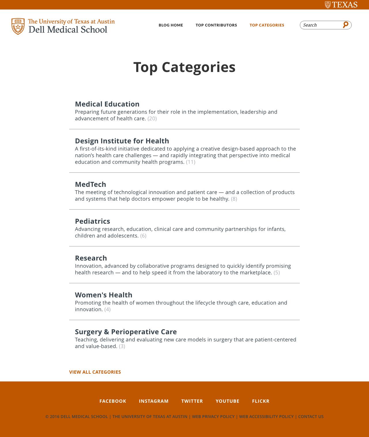 dell med school blog top categories