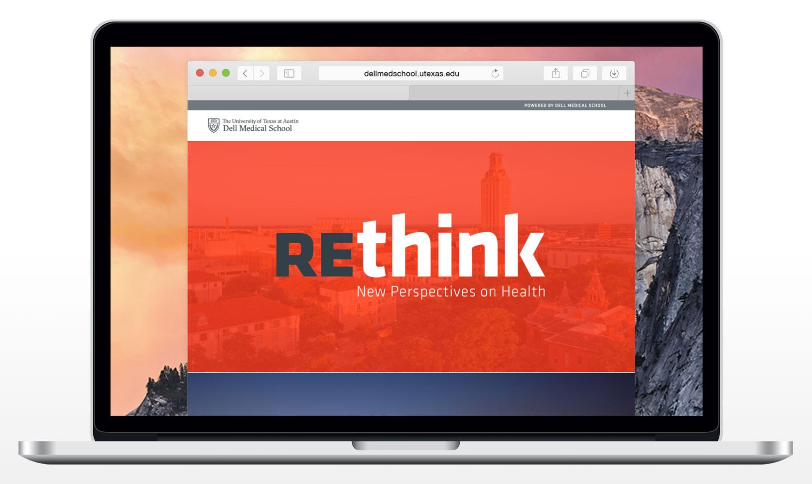 Dell Medical School Rethink Homepage Design