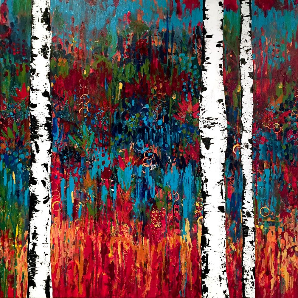 """Harmony 36"""" x 36"""" acrylic on canvas"""