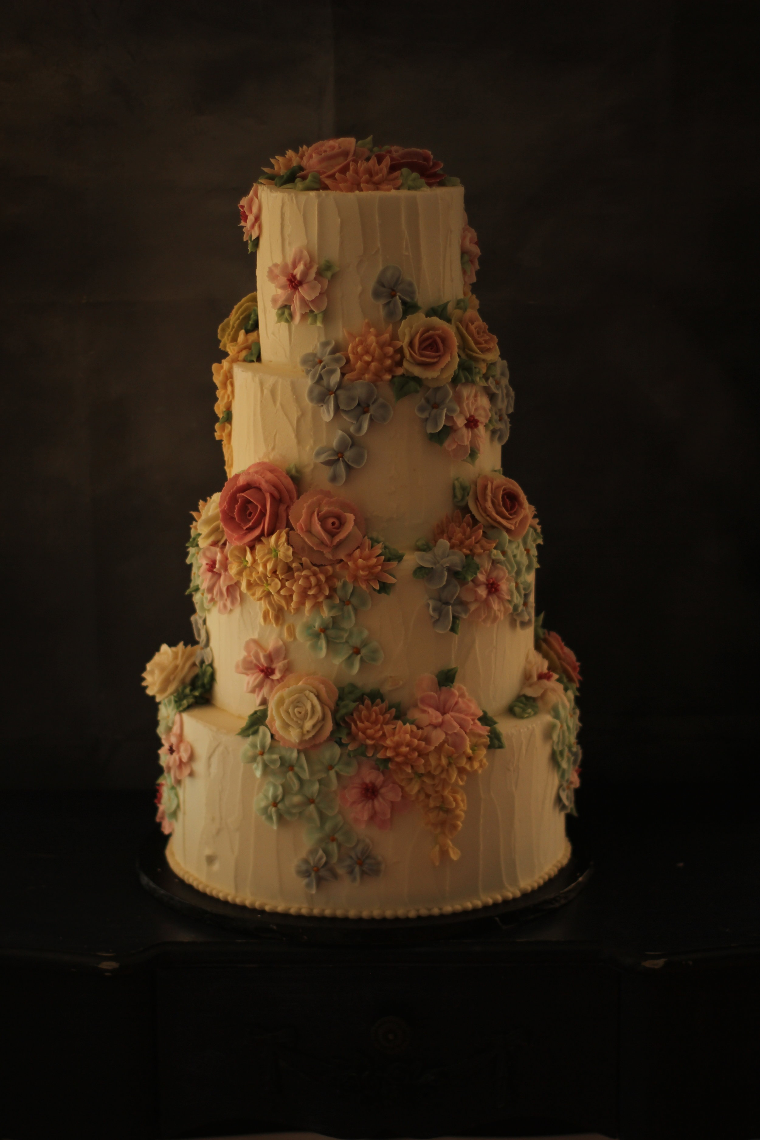 Rustic background with multi cascade £740. In three tiers this would be £510
