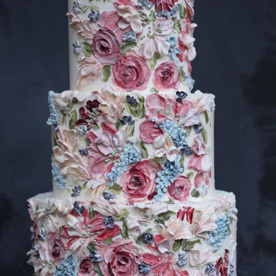 Sadie painted cake, serves 100, £520