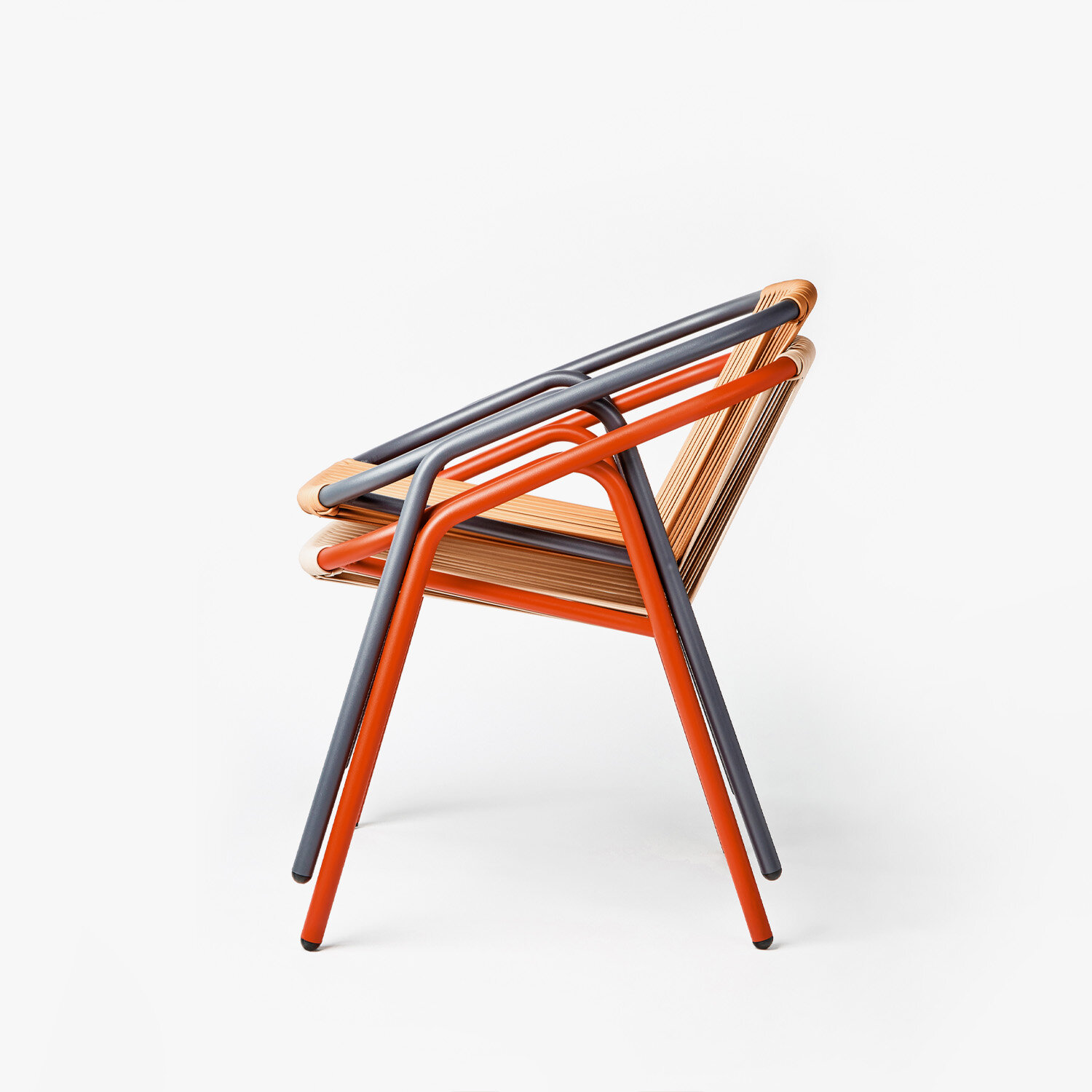 NEW PERSPECTIVES - Shapes and construction are taken from old cane chairs and they are addapted to Aluminum and new production methods. The result is a piece that reminds the classic chairs but it adds new features.