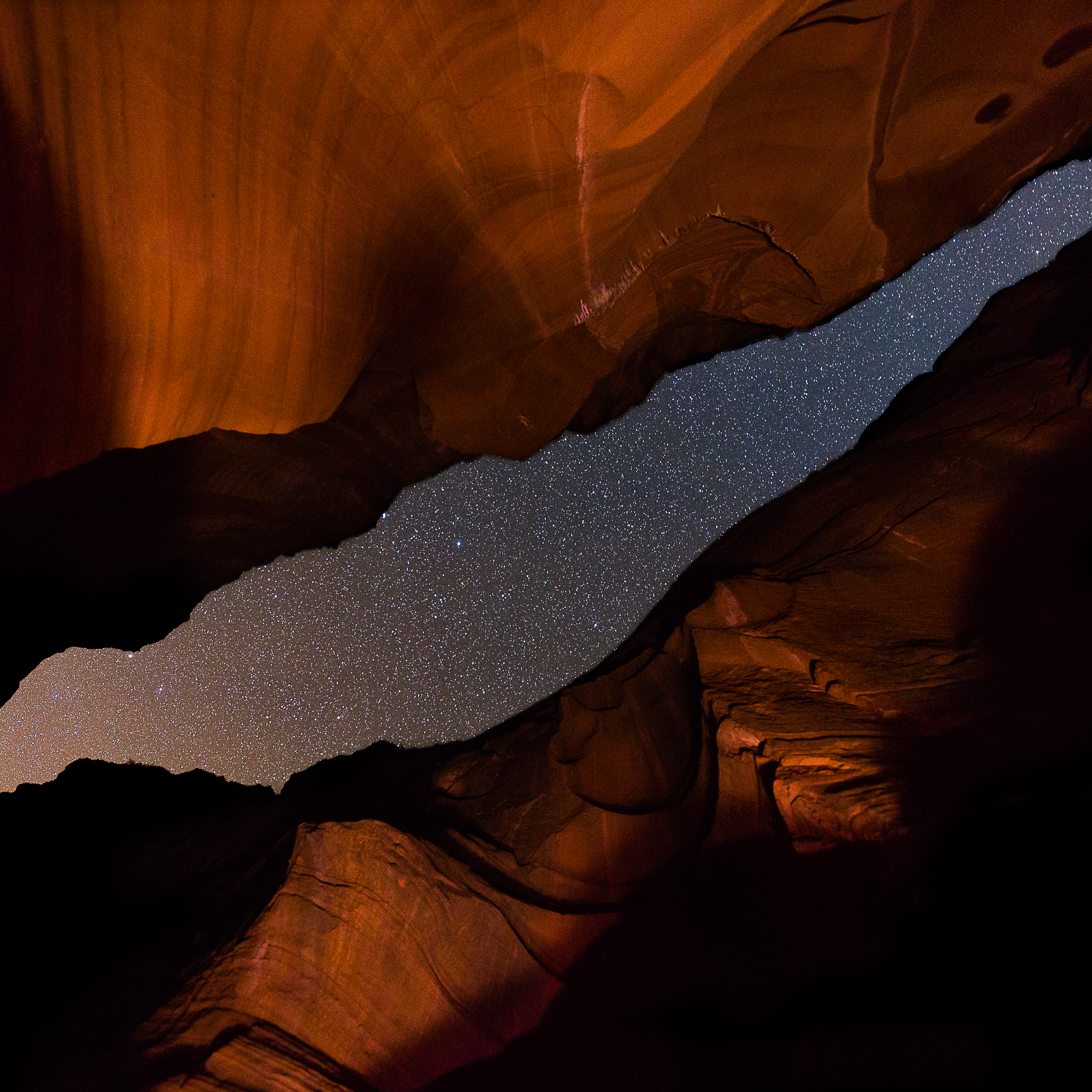 Secret Canyon at night. Canon 5D III with 14mm f/1.8 at f/1.8. 20 second exposure at ISO 4000.