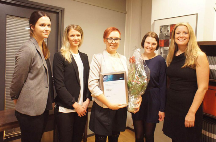 Tahdon2013 campaign group received the Global Alliance COMM PRIX Awards 2013 for the best program in the Public Affairs category at ProCom's Christmas dinner in Helsinki.   The Award was presented by Therese Manus Honningstad, GA Board Member.