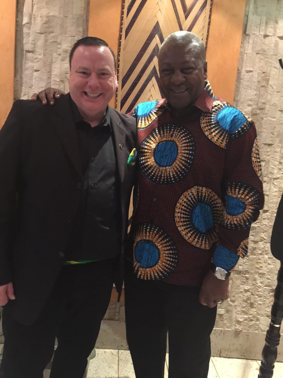 Justin Green, President of the Global Alliance and H.E. John Dramani Mahama, former president of the Republic of Ghana