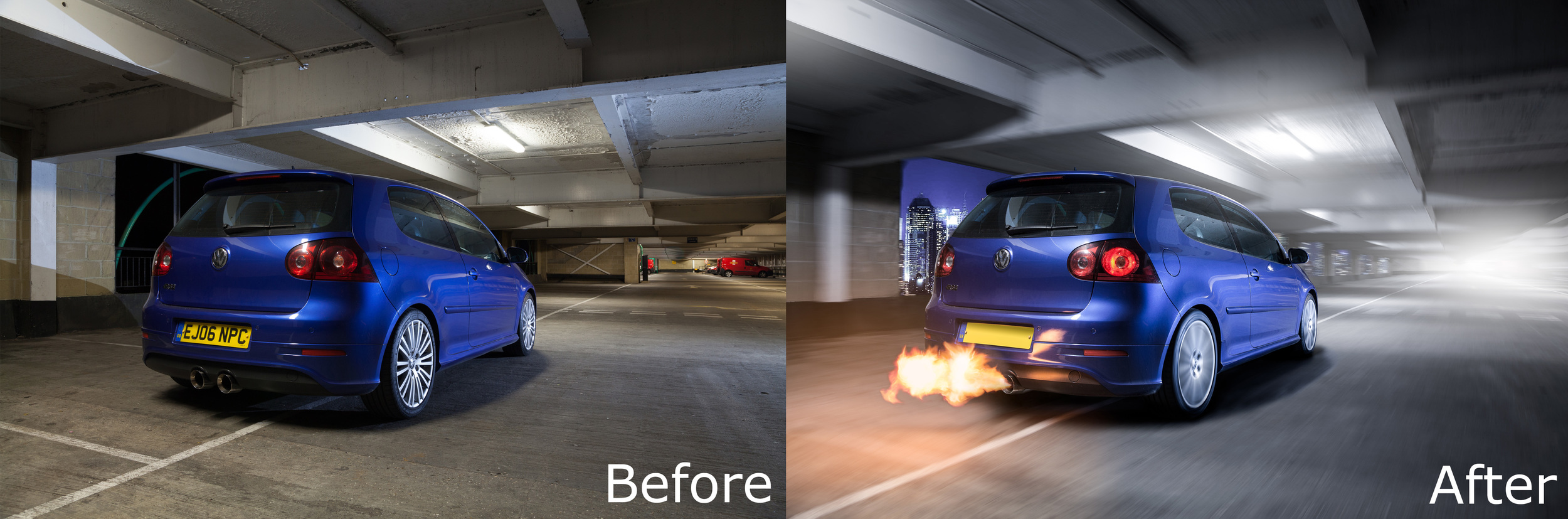 Before And After Car Photography