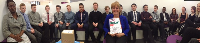 East Kent College Students after a Love Shouldn't Hurt workshop run by Oasis