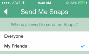 use snap chat settings to make you safer