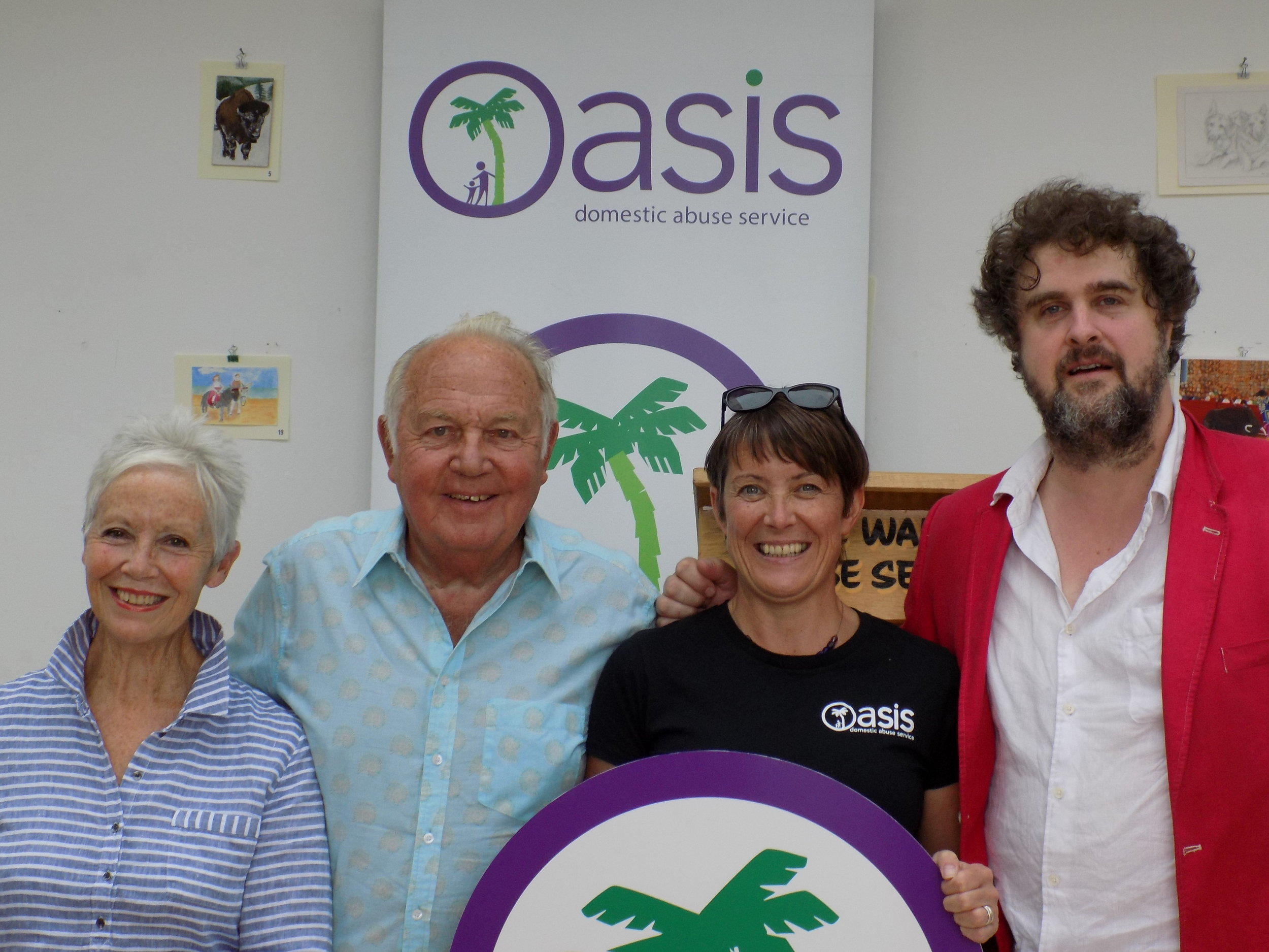 Barbara Sturgeon, Frank Thorely and Will Wollen with Oasis CEO Deborah Cartwright
