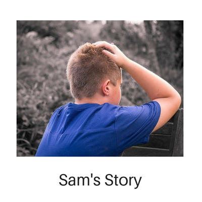 Sam struggled to control his anger, still affected by the abuse he witnessed at home.