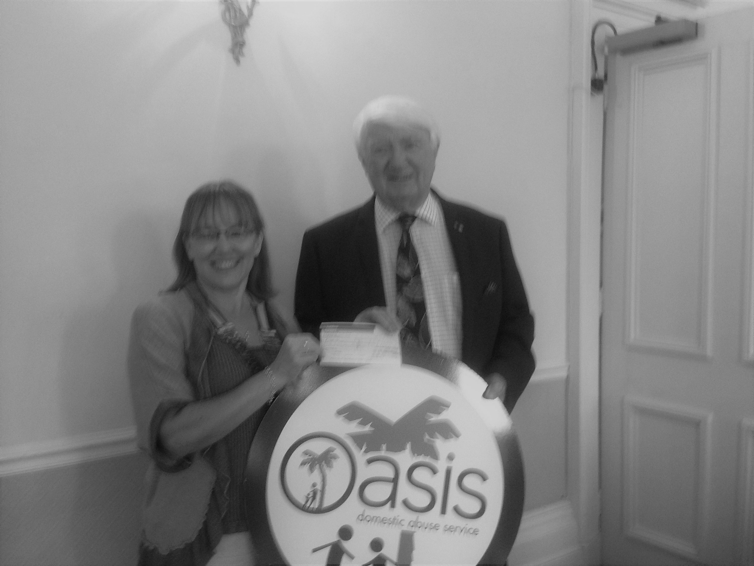 Photo: Chairman Derrick Downs with Susan Midgley of Inner Wheel Margate