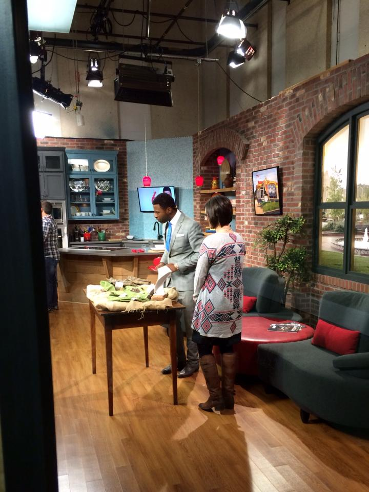 On the set with Jamarcus.