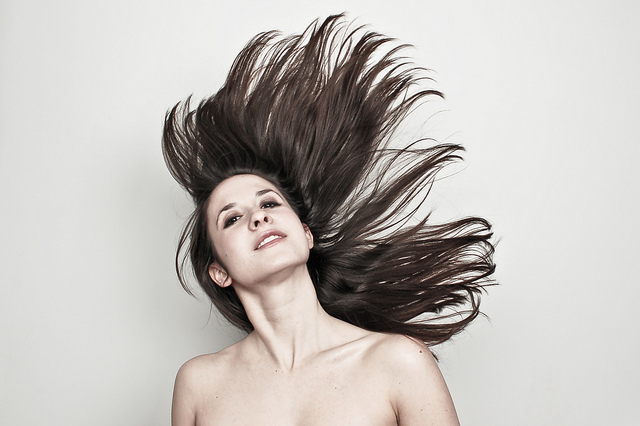 this is awesome.      ariphoto :      Katie  (by  Ari Scott )   Hair flip #17: Katie Schorr!   I'm excited to start this project up again.