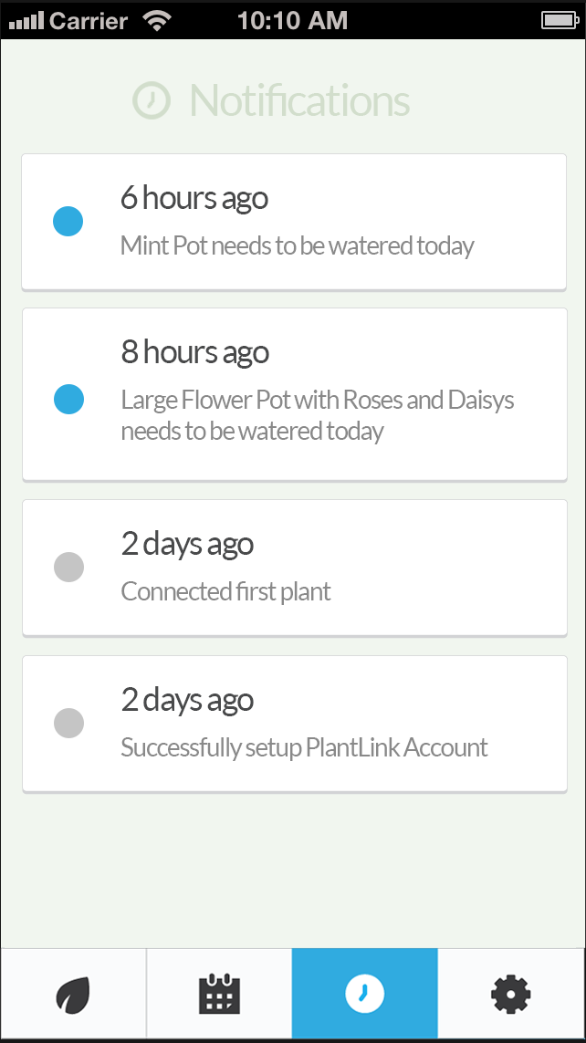 Get Notified About Your Plants