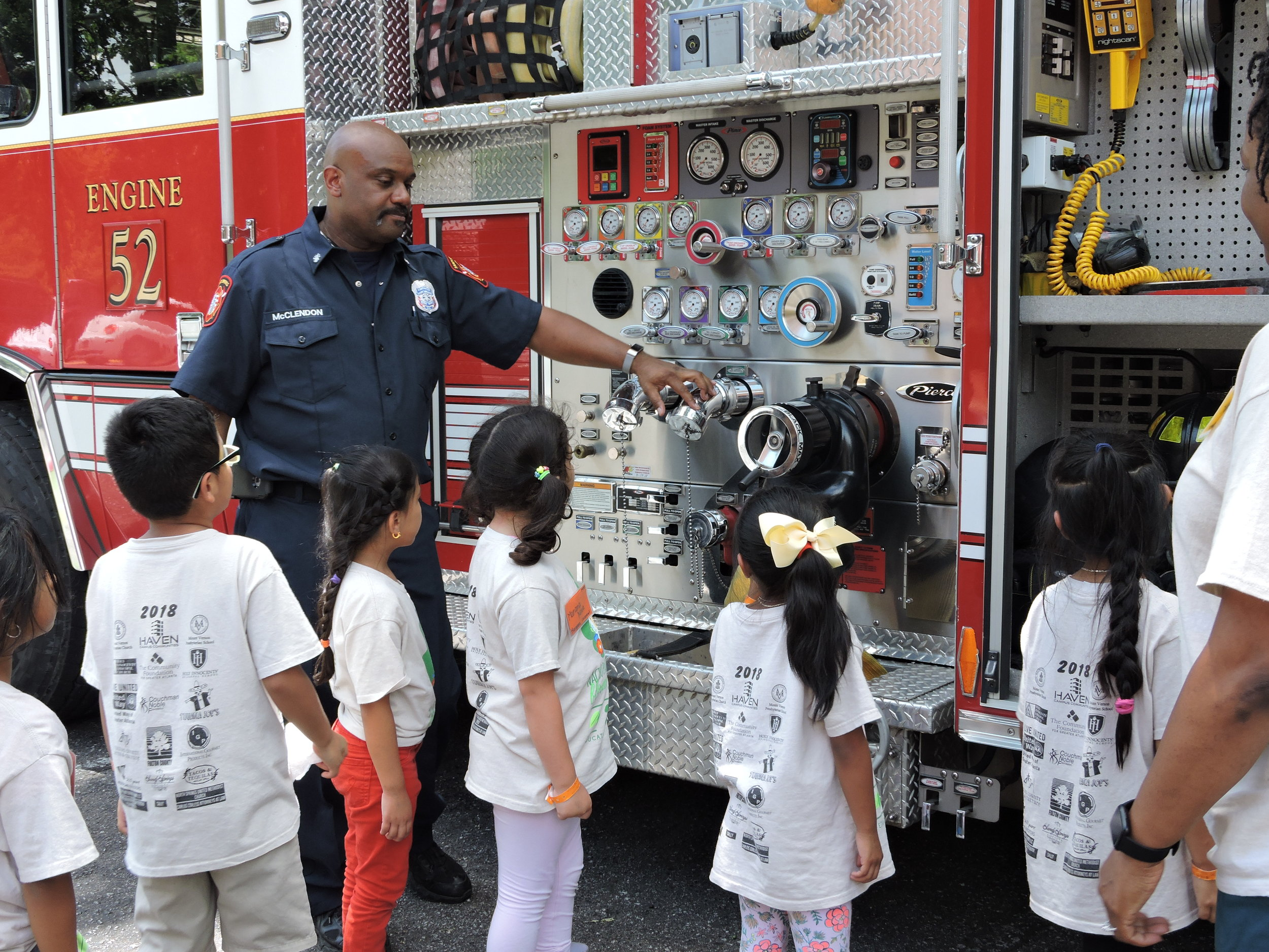 Thank you to  The Sandy Springs Fire Department  for speaking to us about fire safety and teaching us how their equipment works!