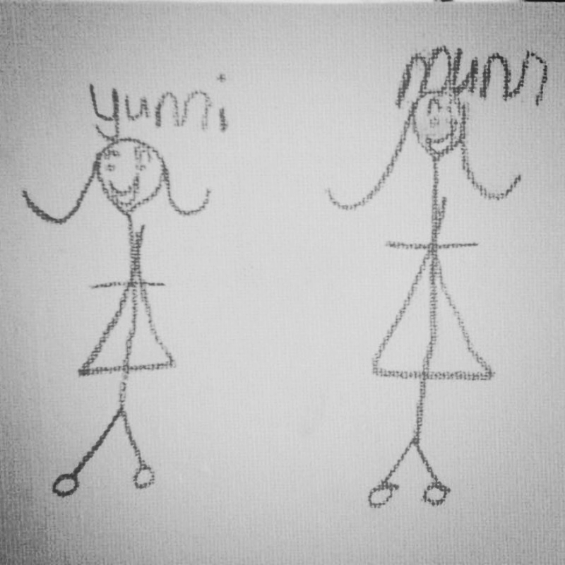 Fliss' daughter Yumi drew this for her mama.