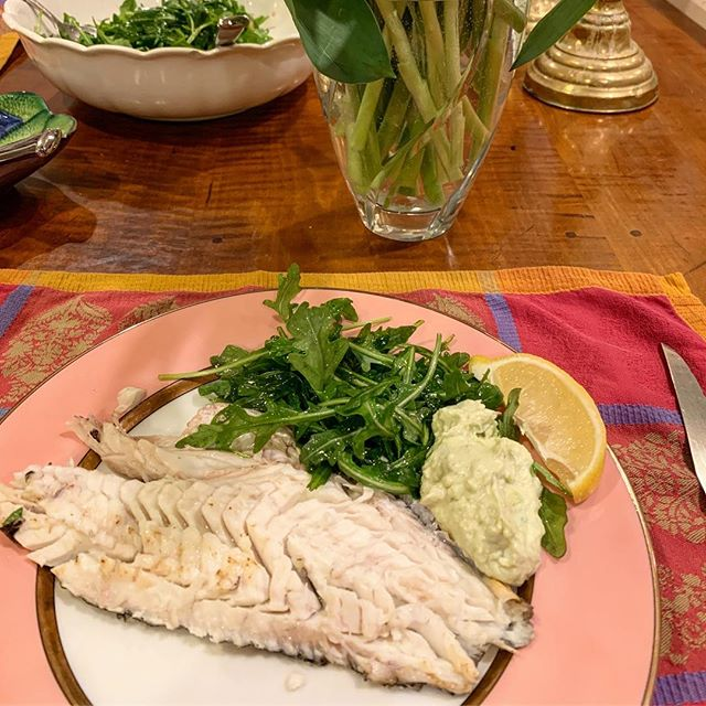 Delicious black sea bass for valentine's dinner, thanks to our terrific new pvd fishmonger @fearlessfishmarket #eatlocal #underappreciatedfish #newenglandseafood