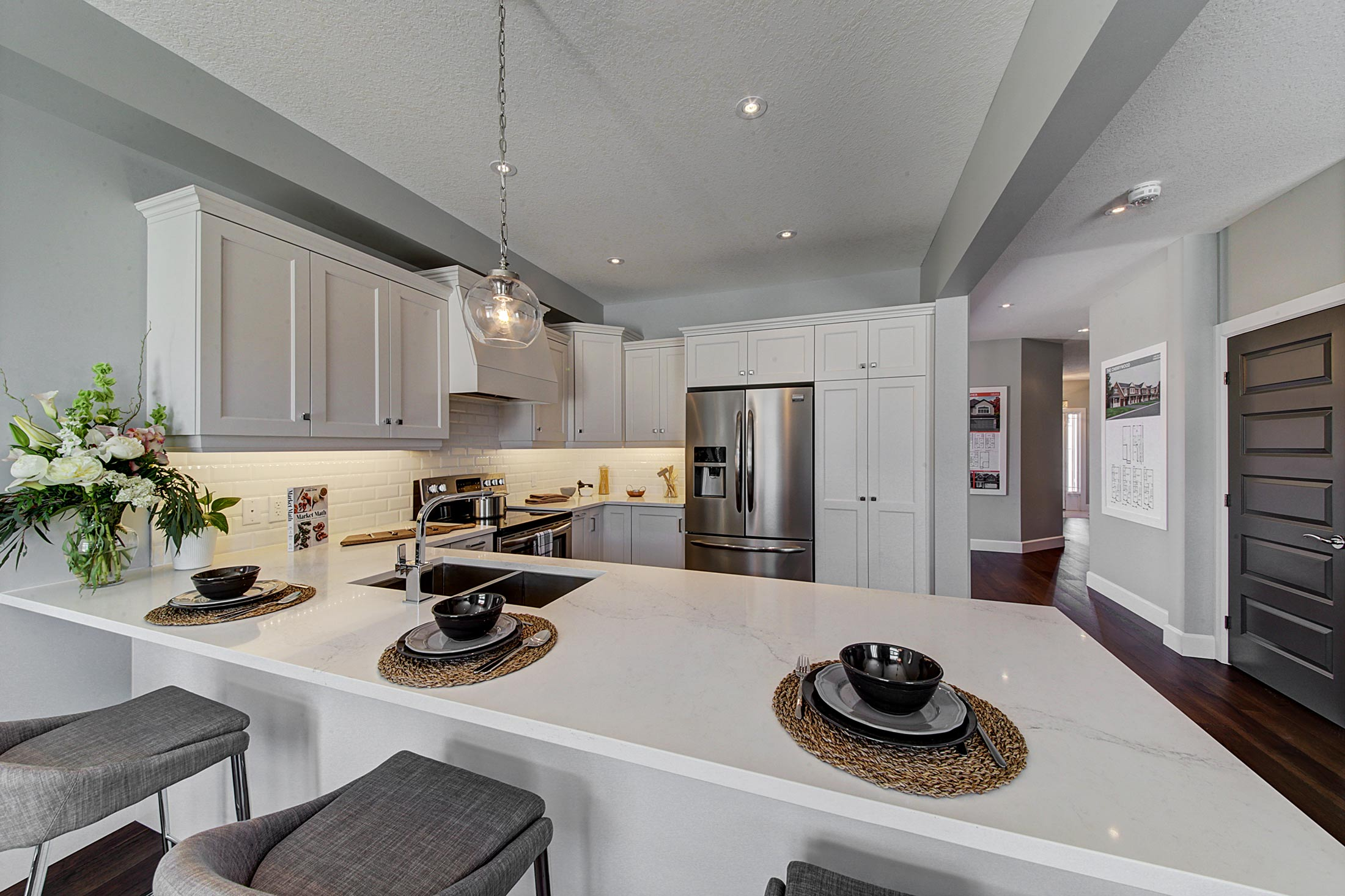 Granite & Quartz Counters   Add timeless beauty to your kitchen and bathrooms with our granite and quartz counters. Not only are these surfaces low maintenance and long lasting, they also create a luxurious high-end space