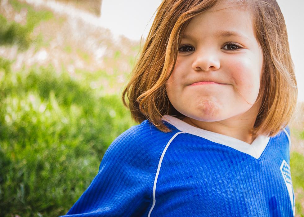 soccer girl smile